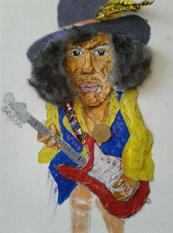 Jimi Hendrix portrait/caricature