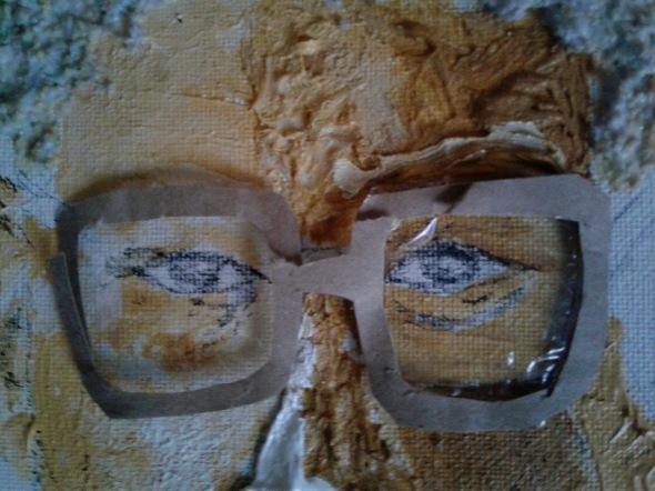 Malcolm X portrait closeup