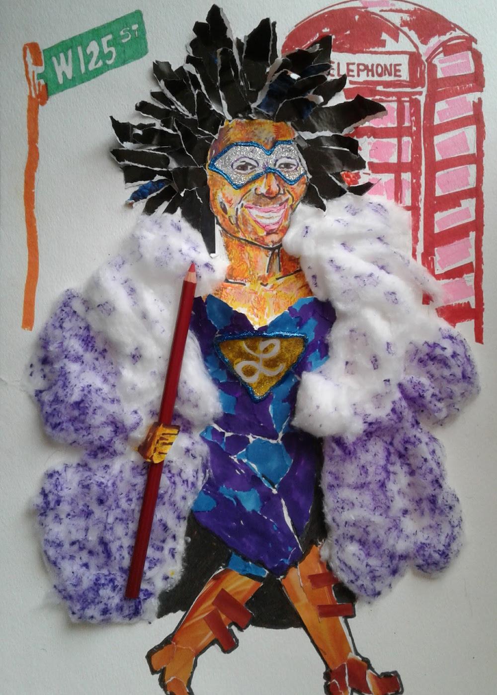 Self portrait as superhero in Harlem