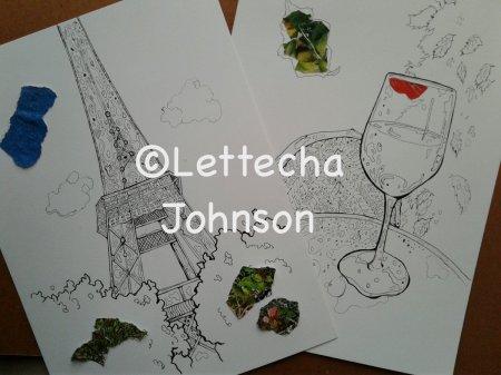 drawings inspired by Paris trip