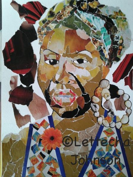 Nina Simone Portrait collage
